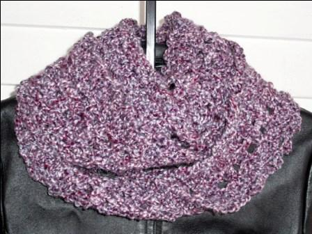 Long Eternity Scarf - Purple, Lavender, and Maroon